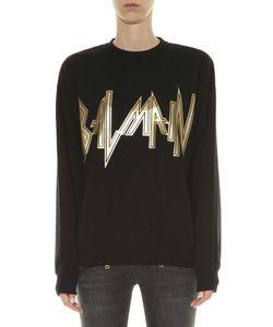 Balmain   Sweatshirt With Logo Print