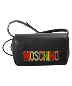 Moschino   Logo Lettering Leather Bag