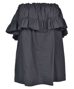 Hache | Gathered Ruffled Top