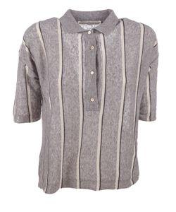 Golden Goose   Striped Knit Polo Shirt