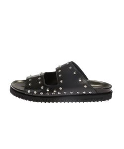 Alexander McQueen | Blck Leather Sandals With Studs