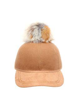 House Of Lafayette | Wool Cap With Fur Pom Pom