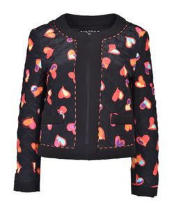 Boutique Moschino | Hearts Print Open Jacket