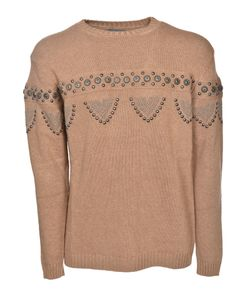 Laneus | Cable Knit Studded Jumper