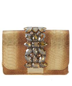 Gedebe | Cliky Bronze Python Shoulder Bag