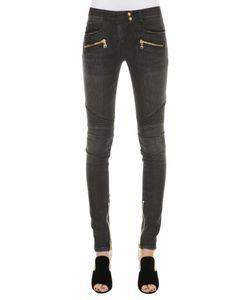 Balmain | Biker Jeans In Denim Delavè