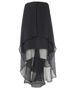 Brunello Cucinelli | Crispy Chiffon Flounced Skirt