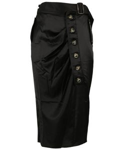 Self-Portrait | Asymmetric Midi Skirt