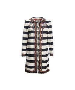 Bazar Deluxe | Striped Coat With Decorations