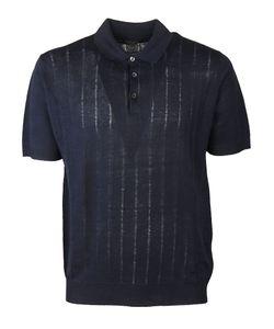 Corneliani | Embroidered Stripe Polo Shirt