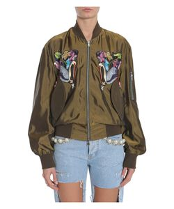 Forte Couture | Embroidered Bomber Jacket