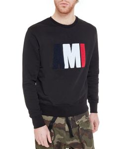 AMI Alexandre Mattiussi   Ami Terry Cloth Logo Sweatshirt