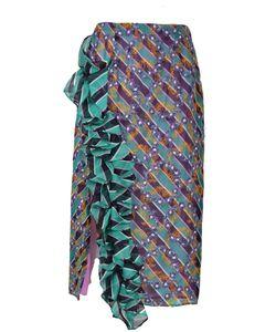 Marco de Vincenzo | Ruffled Printed Skirt
