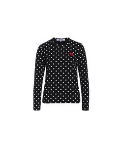 Comme Des Garçons Play   T-Shirt Play By Comme De Garcon And Polka Dots