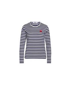 Comme Des Garçons Play   T-Shirt Play By Comme De Garcon With Stripes