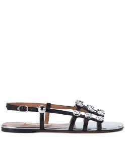 LAutre Chose | Sandalo Sandy In Cuoio E Bottoni In Argento