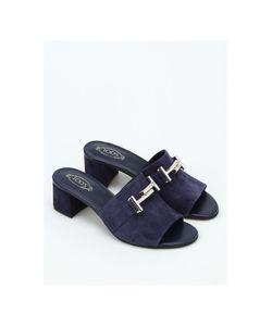 Tod's | 38a Double T Suede Slippers