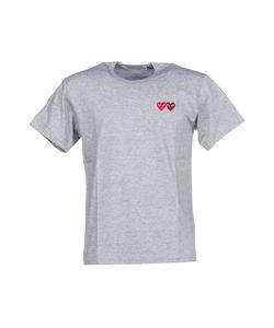 Comme Des Garçons Play   Embroidered Hearts T-Shirt