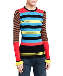 Opening Ceremony   Contrast Striped Ribbed Jumper