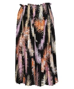 Emilio Pucci | Feather Print Pleated Skirt