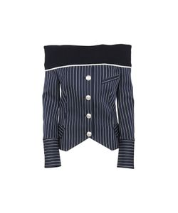 Pierre Balmain | Off-Shoulder Striped Shirt