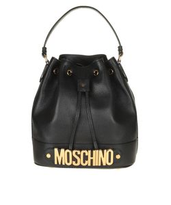 Moschino   Bucket In Leather With Logo