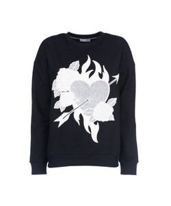 Each X Other | Heart Roses Patch Sweatshirt