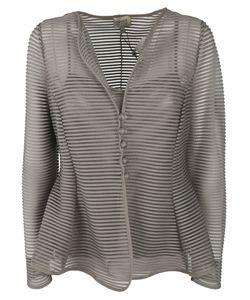 Armani Collezioni | Sheer Striped Jacket