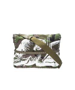 Valentino | Panther Print Camouflage Cotton Canvas Messenger Bag