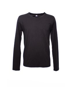 Altalana | Flamed Cotton Long Sleeves Round Neck T-Shirt