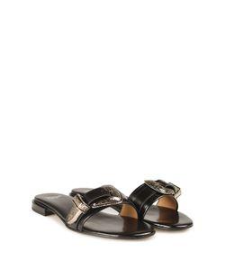 Toga | Buckle Leather Slide Sandal