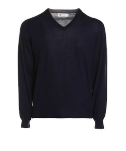 Brunello Cucinelli | Knitted Wool And Cashmere V-Neck