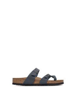 Birkenstock | Dark Nappa Double Bands Sandal With Buckles Closure
