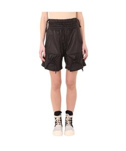 KTZ | Str 10 D Leather Gathered Pockets Shorts