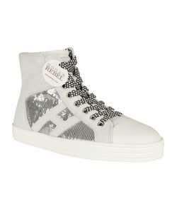 Hogan Rebel | Sequin Embroidered Hi-Top Sneakers