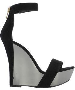 Balmain | Suede Wedge Shoes