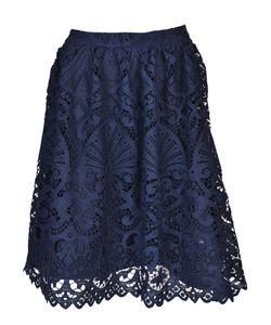 Alice + Olivia | Joyce Knee Length Lace Skirt From Sapphire Joyce