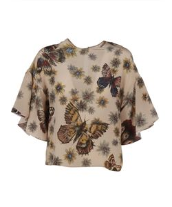 Valentino   Butterfly And Print Top