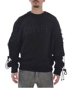 Juun.J | Zip Lace-Sleeve Sweatshirt
