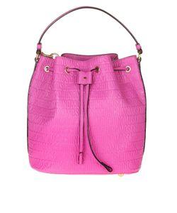 Moschino   Bucket Bag With Logo Leather