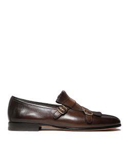 Santoni | Buckled Fringe Detail Monk Shoes