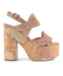 Twin-Set | Crossover Strap Platform Sandals