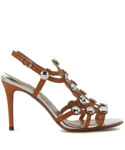 LAutre Chose | Sandalo Con Tacco Sandy In Cuoio Ocra E Bottoni