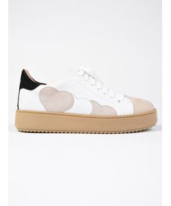 Twin-Set | Heart Patches Platform Sneakers