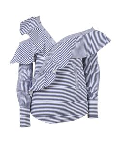 Self-Portrait | Striped Frill Shirt