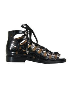 Toga | Pulla Lace Up Polido Cutout Flat Sandals