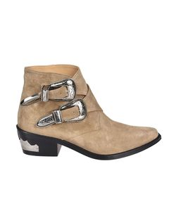Toga   Pulla Double Buckle Ankle Boots