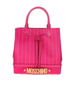 Moschino   Bucket With Micro Studded Leather