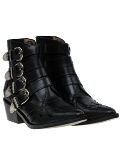 Toga | Pulla Leather Buckle Boots