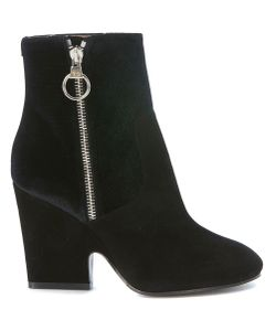 Twin-Set | Ankle Boots In Suede And Velvet